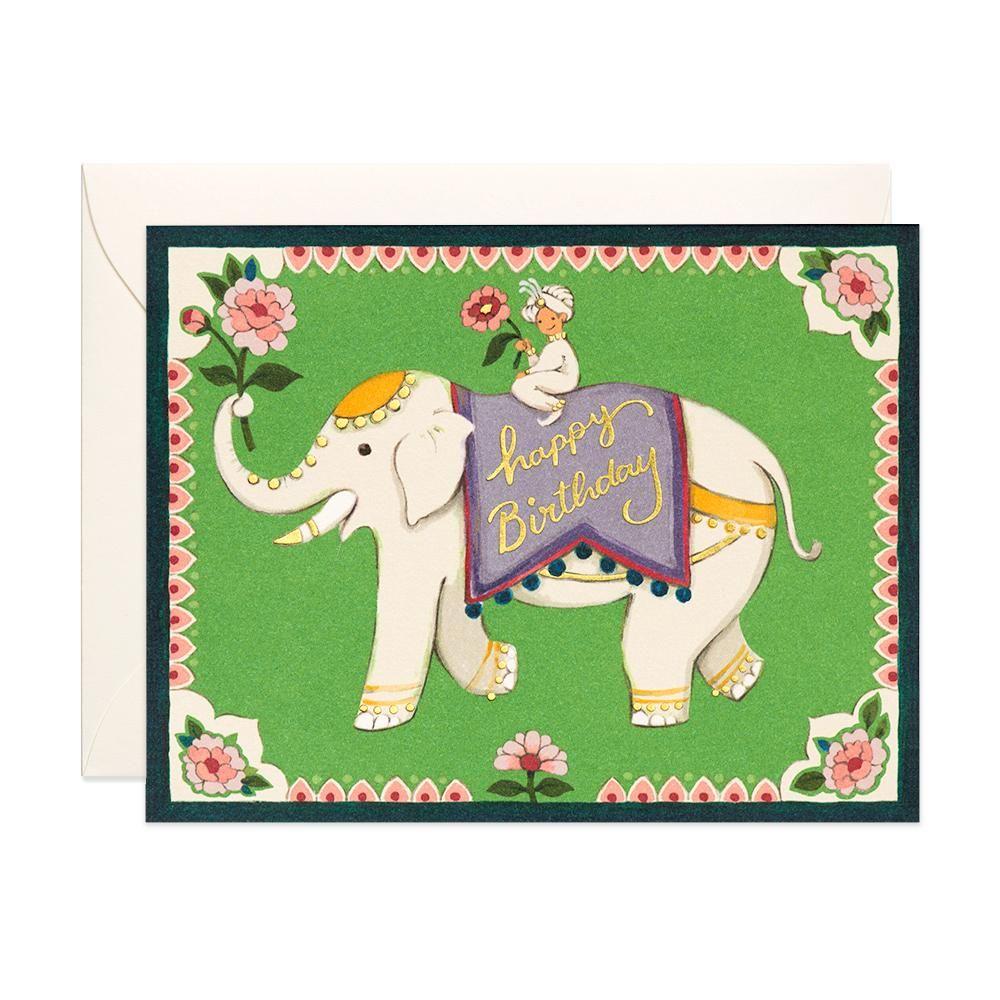 Indian Elephant Birthday Card Elephant Birthday Birthday Cards Cards