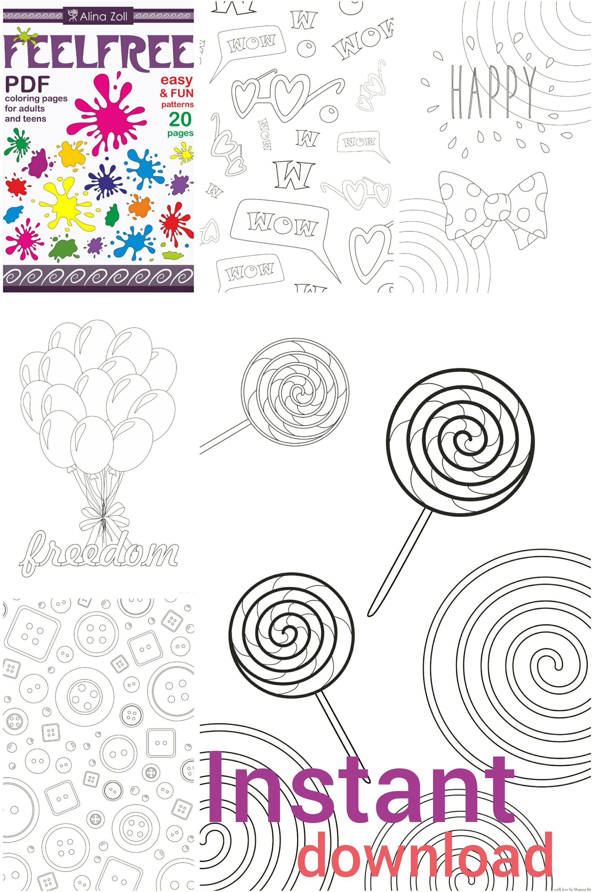 Digital Coloring Book Pdf Printable Coloring Pages Download Etsy Coloring Books Coloring Pages Cool Coloring Pages