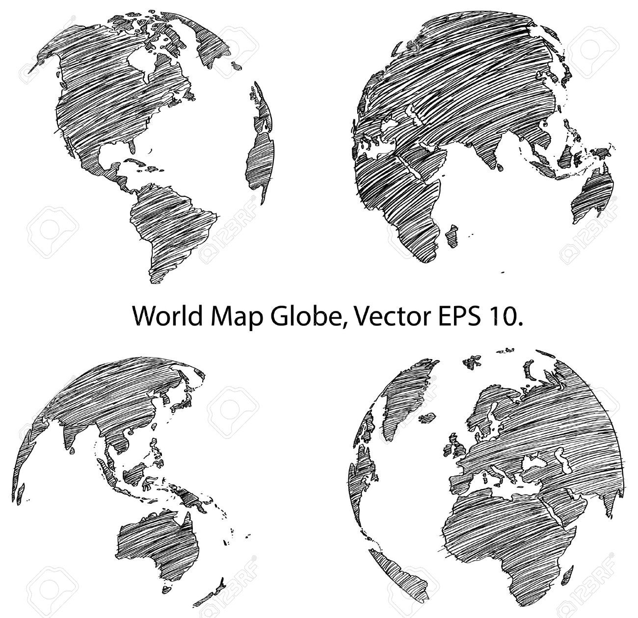 24381915 earth globe with world map detail vector line sketched up 24381915 earth globe with world map detail vector gumiabroncs Images