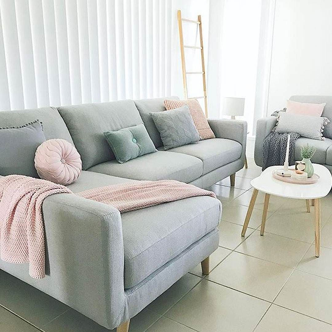 Phoebe beige linen modern chaise lounge see white - Via Featuring Our Phoebe 3 Seater Chaise In Grey How Beautiful Is Her Living Space