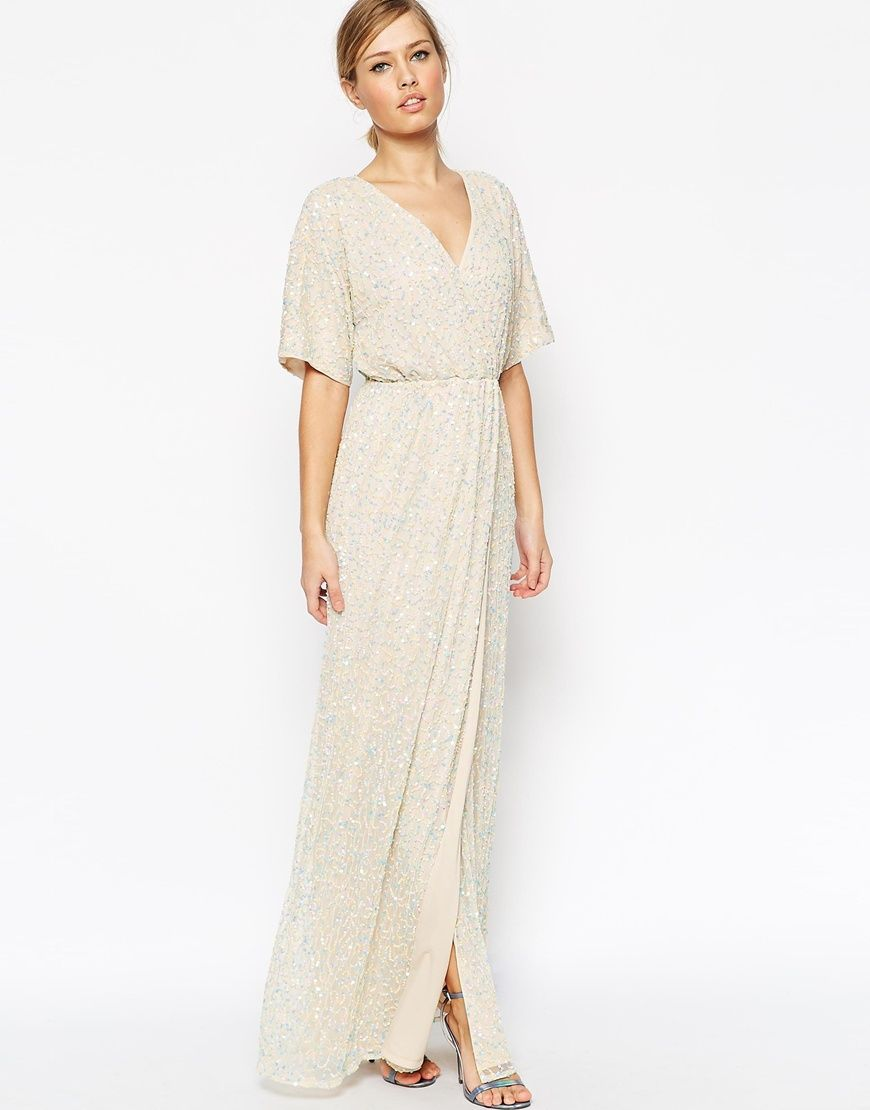Image 1 of ASOS Sequin Kimono Maxi Dress  wedding maid of honor ...