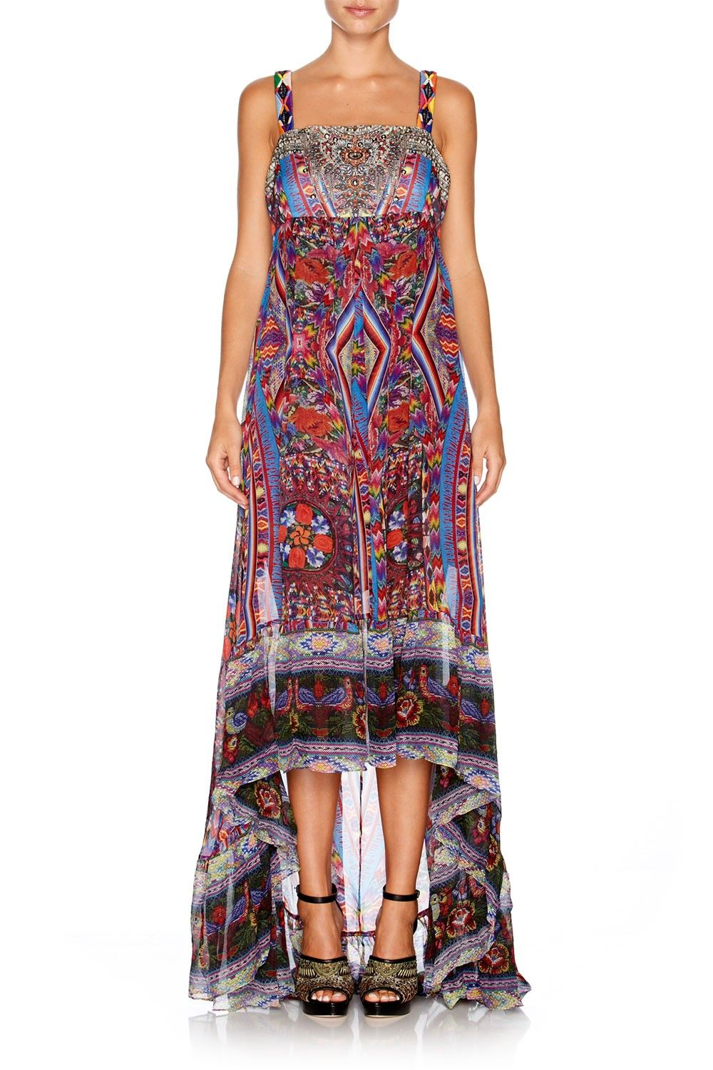 CAMILLA - TAPESTRY OF TIME GATHERED DRESS W/ FULL SKIRT - Dresses - Shop