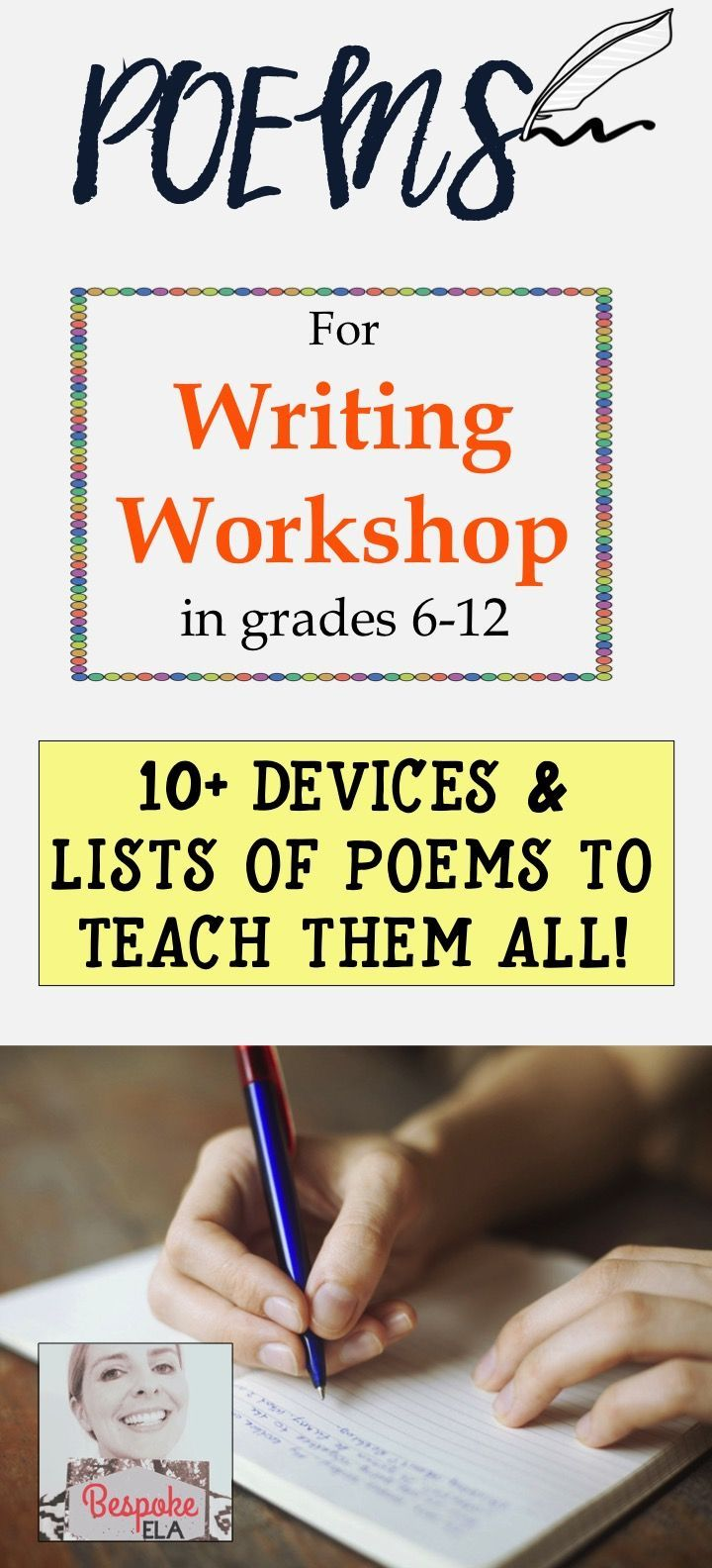 Poetry For Writing Workshop In Grades 612: 10+ Devices & Poems To Model  Them All!