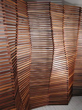 Slated Wood Wall Screen Design Seeyond Architectural Solutions
