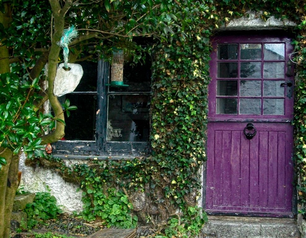 Vine-framed Purple Door & Vine-framed Purple Door | Doors | Pinterest | Purple door Doors and ...