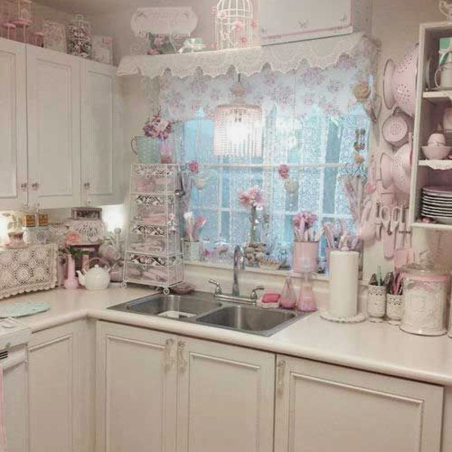 Easy Shabby Chic Style Kitchen Decor Designs You Can Do Yourself For ...