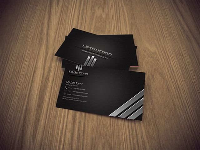 Awesome black and white destruction corporate business card template awesome black and white destruction corporate business card template with 3d effects for your inspiration wajeb Gallery