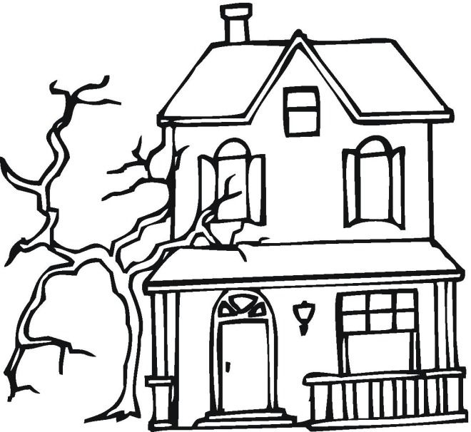 Haunted House 8 Coloring Page This could work as a haunting story