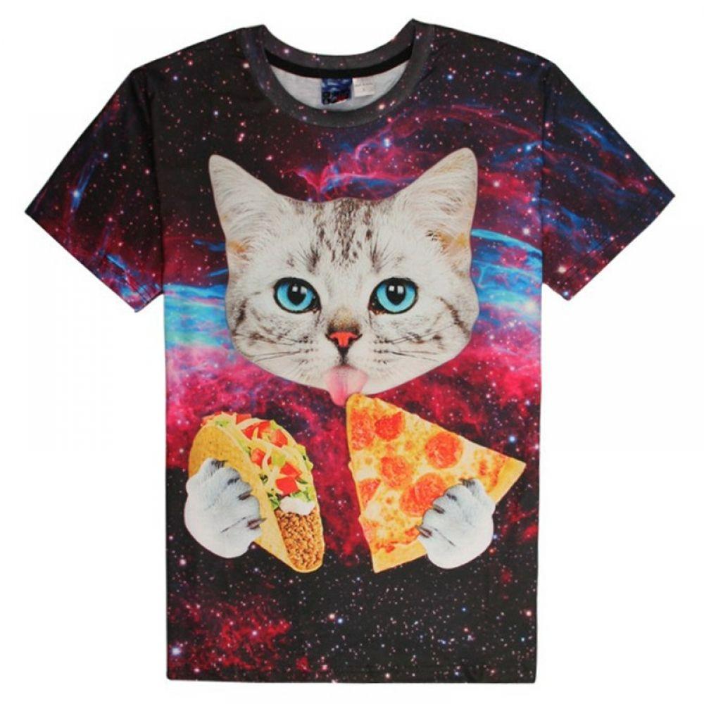 T Shirt Kittens Cheap T Shirt Mens Ladies Solid Short Sleeve Basic Solid Short Sleeve T Shirt S M Cute Tshirts Funny Shirts Women Cat Graphic