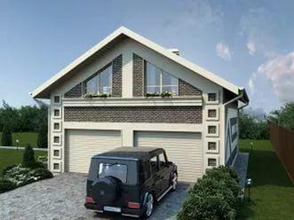 Готовые проекты гаражей с жилой мансардой деденево купить гараж