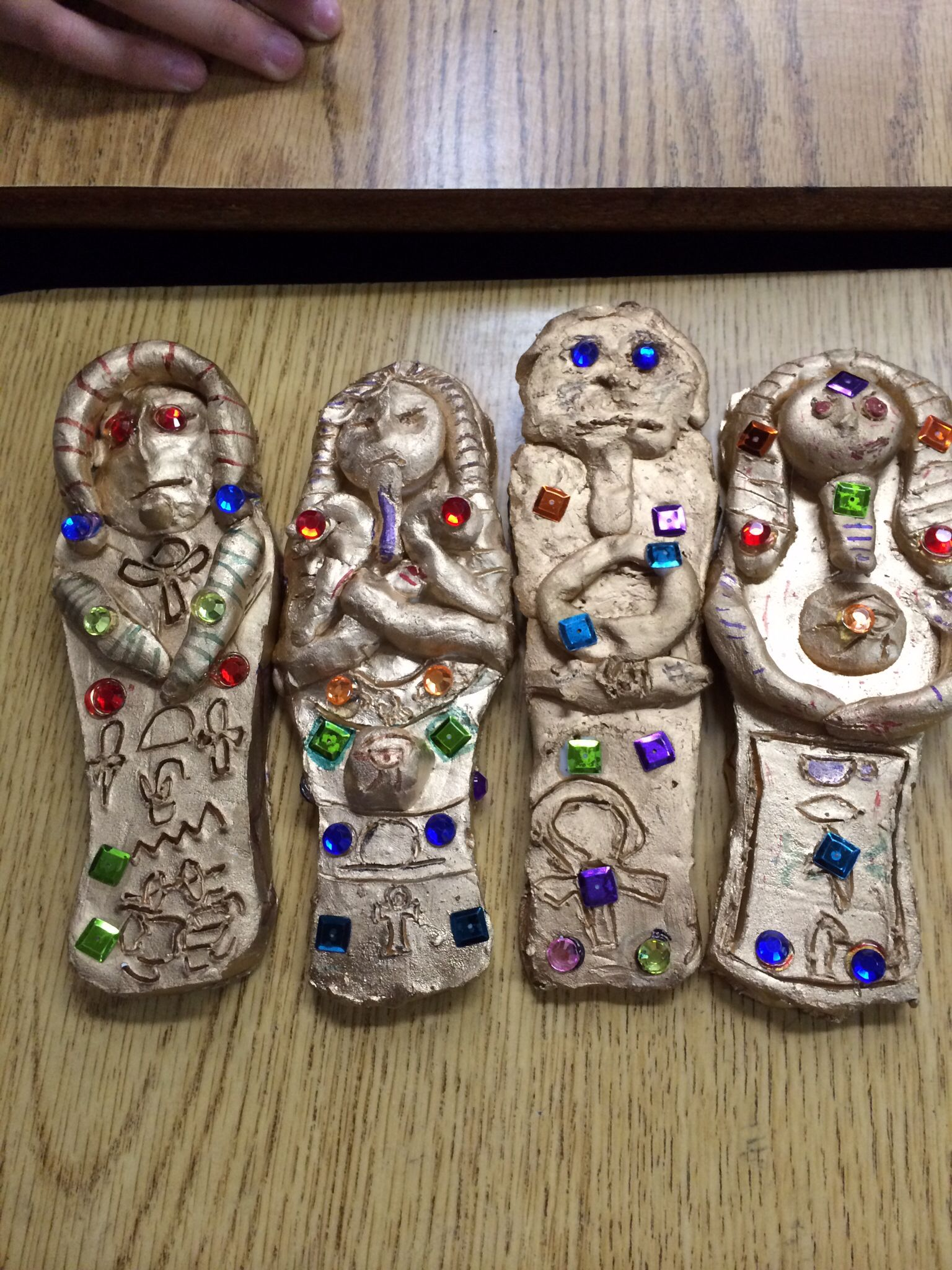 6th grade sarcophagus clay project 6th grade art projects pinterest