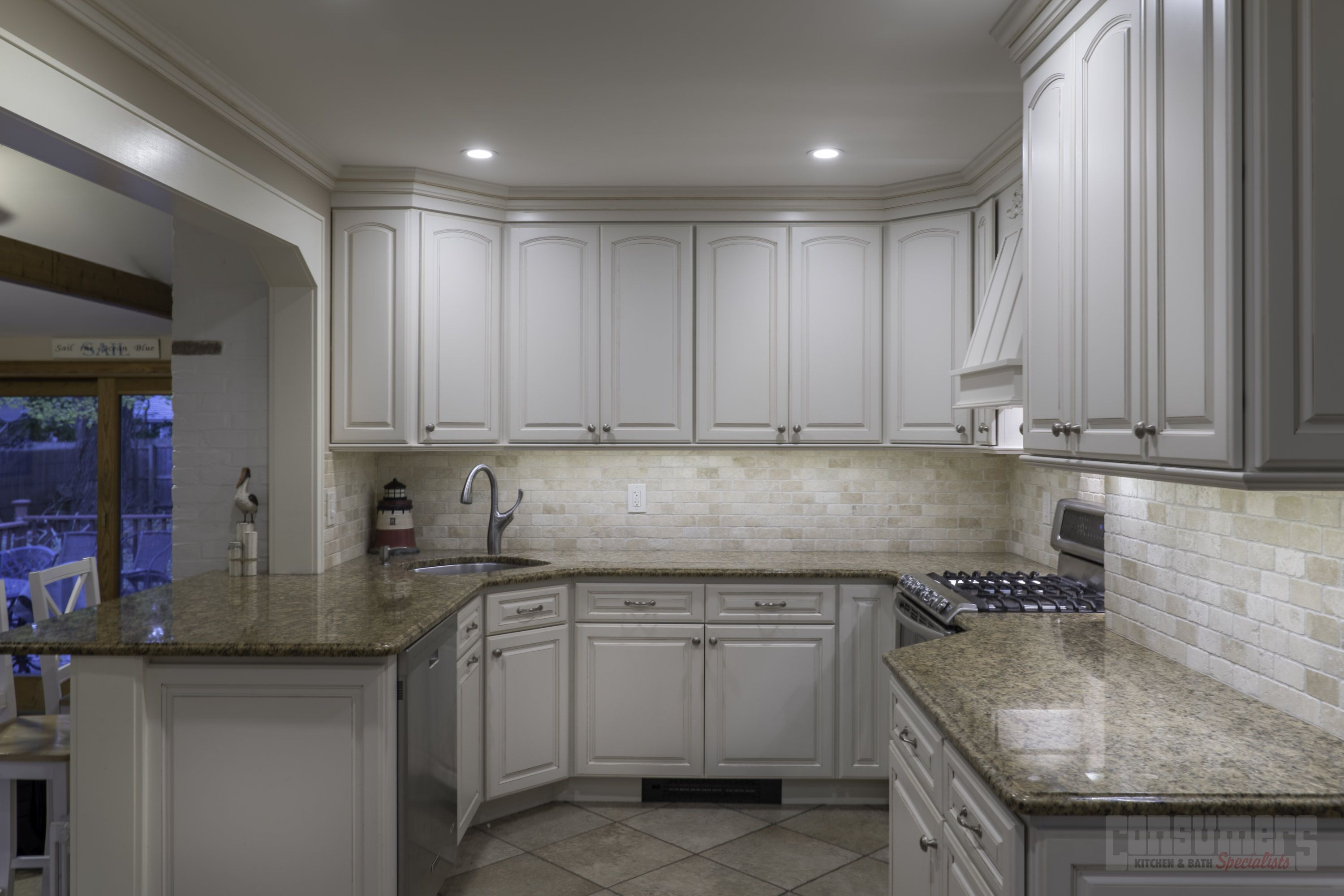 Pin By Consumers Kitchens Baths On Center Moriches Smart Maple Kitchen Granite Countertops Kitchen