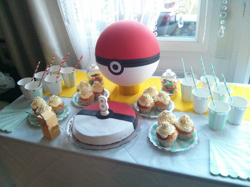 Décoration table anniversaire enfant thème Pokémon | anniversaire on