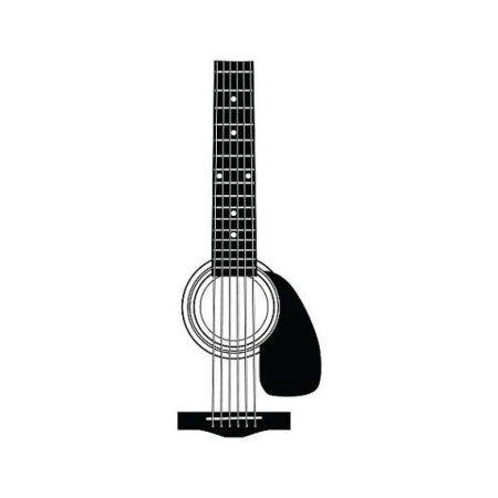 Tattify Guitar Temporary Tattoo No Strings Attached Set Of 2