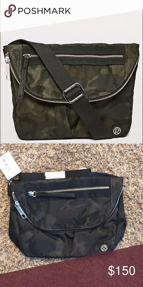 0fd5708041 Lululemon festival bag in camo green black. NWT lululemon athletica Bags  Crossbody Bags