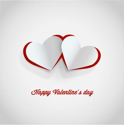 Design de carto dos namorados feliz  Valentines card design