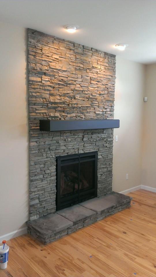 Home Stone Fireplace Wall Ledge Stone Fireplace Hearth And Patio