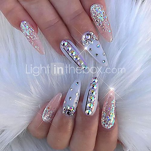 Diamonds Nail Art Design Ideas: 100% Acrylic Nail Jewelry For Finger Nail Finger Toe
