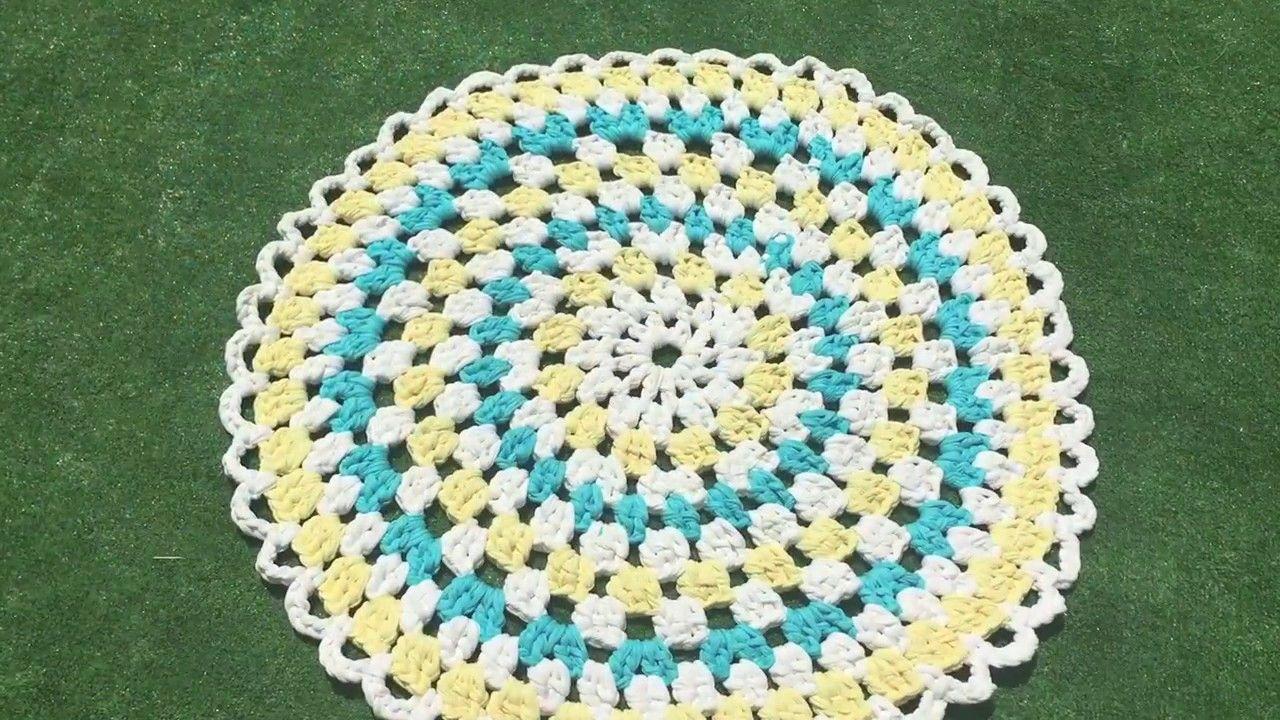 Cómo tejer una alfombra de trapillo paso a paso ♥ Laura DIY ...
