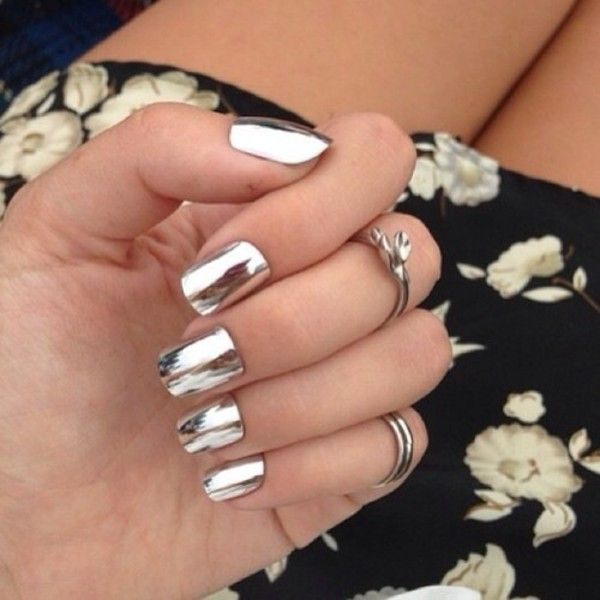 We Bring This Collection Of 25 Top Metallic And Mirror Nail Designs So Far Nails Very Simple To Make