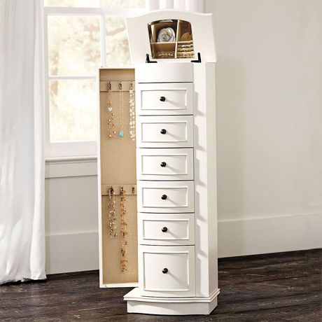 Chelsea Jewelry Armoire Nothing Less Will Be Able To Contain All My Bling White Jewelry Armoire Jewelry Armoire Jewellery Storage
