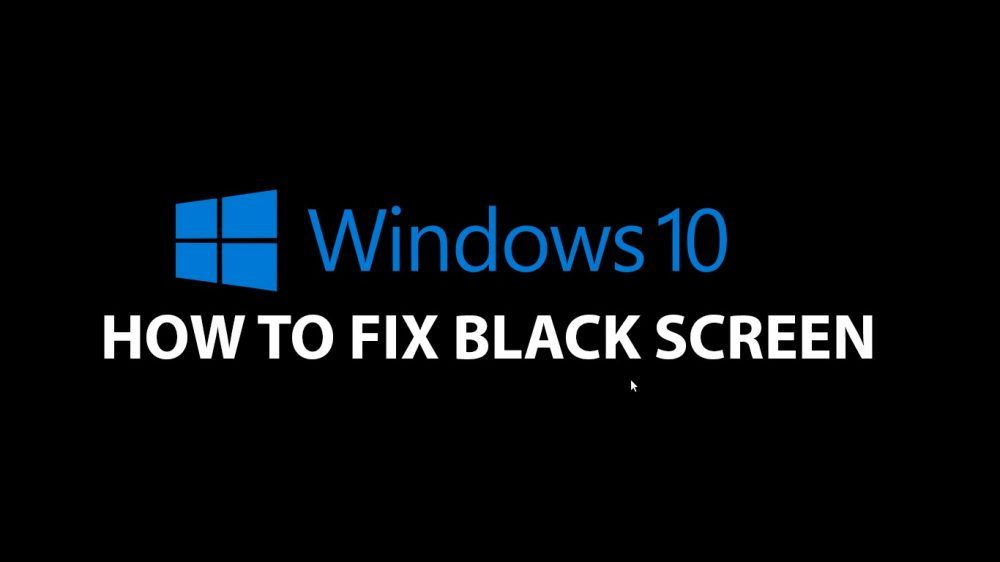 black screen of death windows 10 after update
