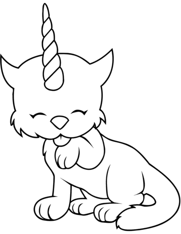 Caticorn Coloring Pictures in 2020 | Unicorn coloring ...