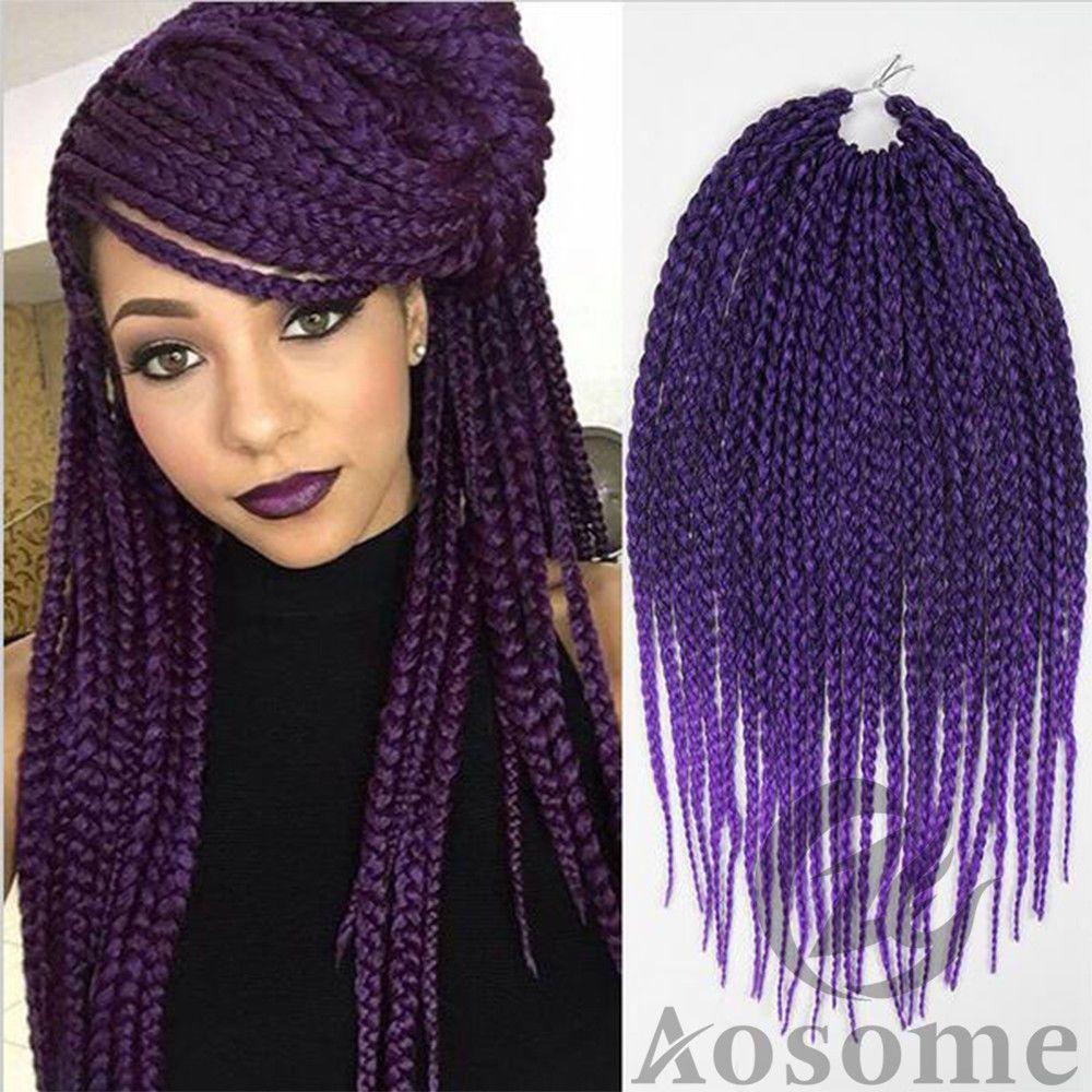 Box Braids Hair Crochet Crochet Hair Extensions Synthetic Crochet