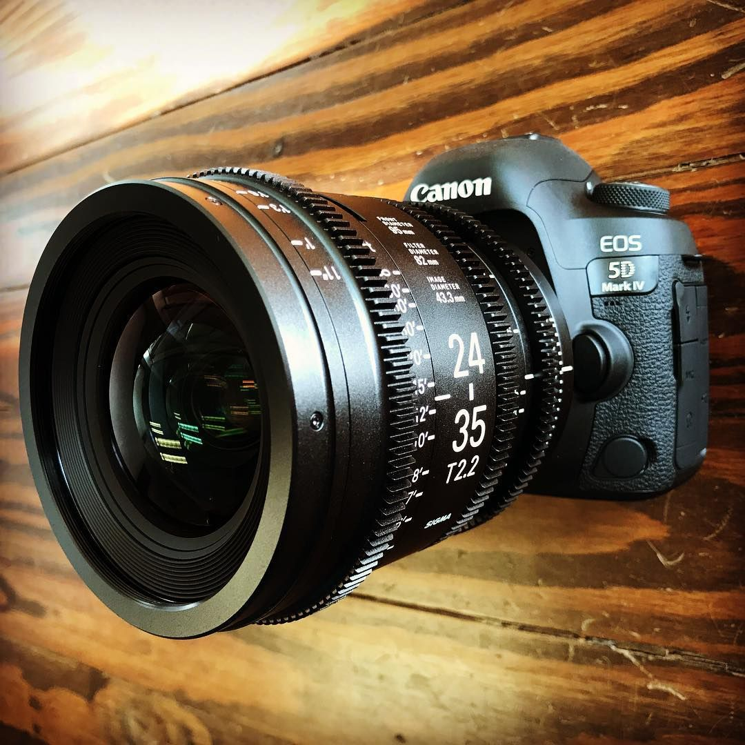 Sigma 24-35mm T2.2 Full Frame Cine Lens on Canon 5D Mark IV with C ...