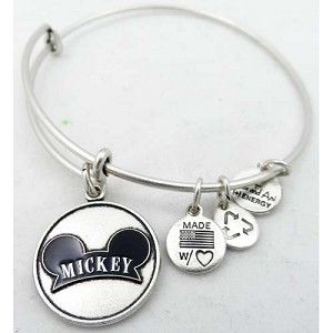Disney Alex And Ani Bracelet Mickey Mouse Ear Hat Silver In 2018