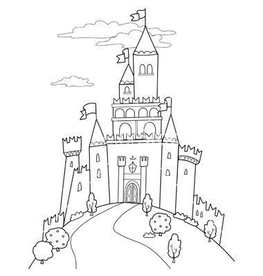Castle Illustration Fairy Tale Illustration Castle Coloring Page