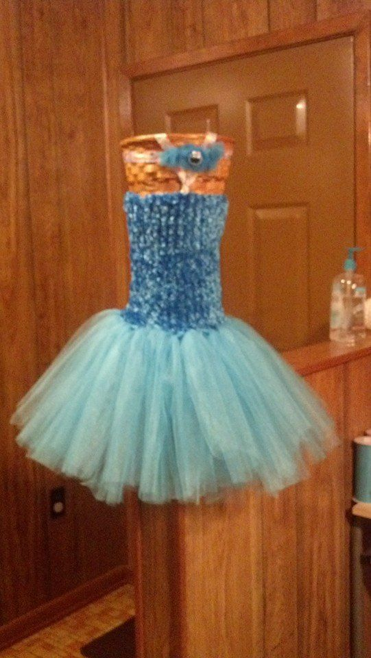 Cookie Monster Inspired Tutu Dress (With Matching Headband) Facebook.com/WhipperSnapperCreations  #whippersnappercreations