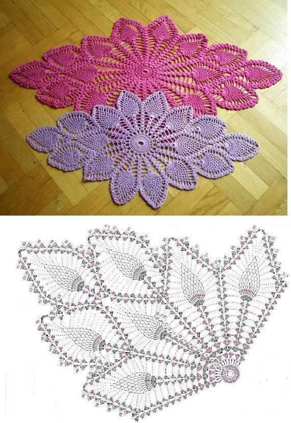 Crochet Lace Pineapple Stitch Pattern With Diagram Dollie