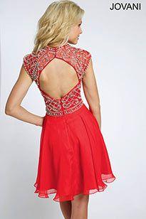 Crystal Beaded Short Dress 21475 - Short ~ Cocktail Dresses