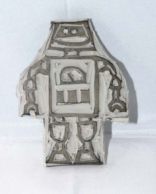 Craft Therapy with Crystal: Undefined: Carved Robot Stamp