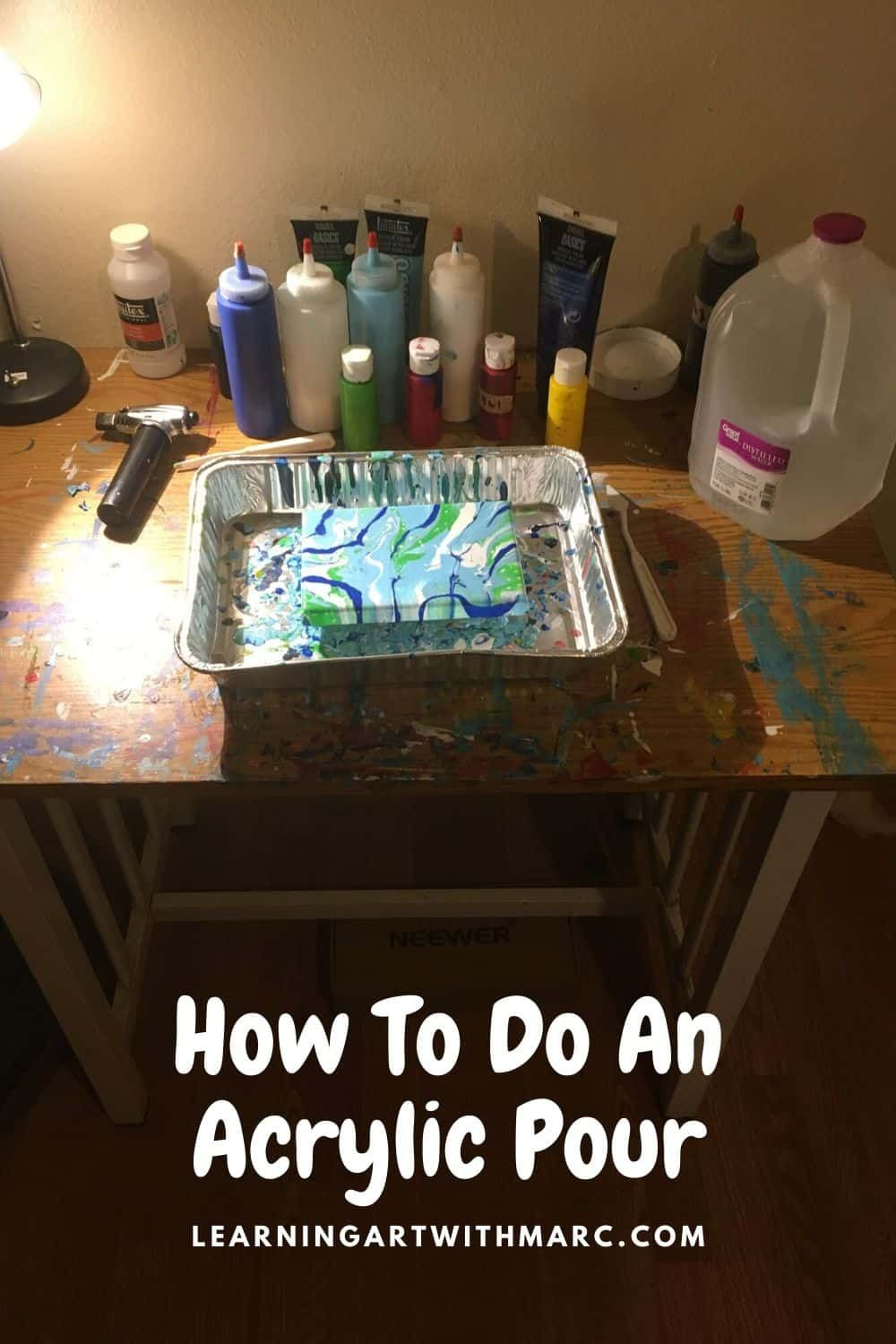 How to do an acrylic pour come learn about art with me