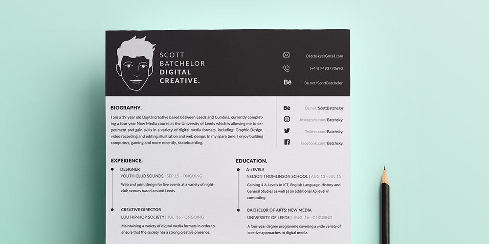 Free a4 cv covering letter templates psd resume