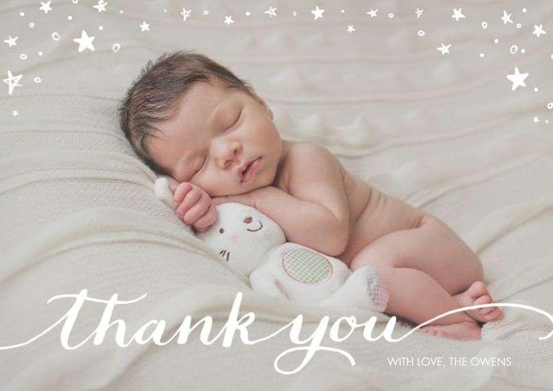 Personalized thank you cards 5x7 cards standard cardstock