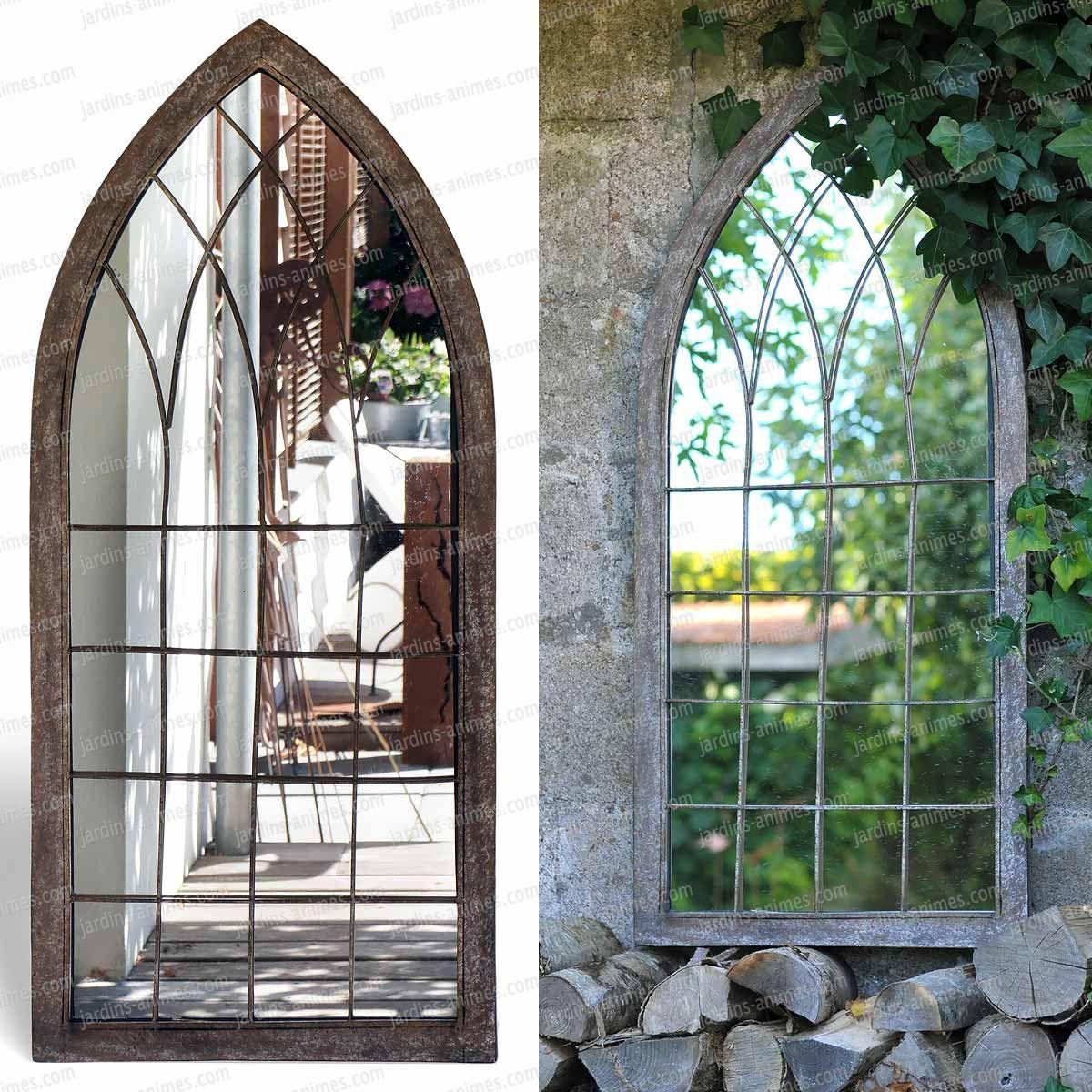 Miroir fen tre de jardin 109cm catulle pinterest garden outdoor et home - Miroir de jardin ...