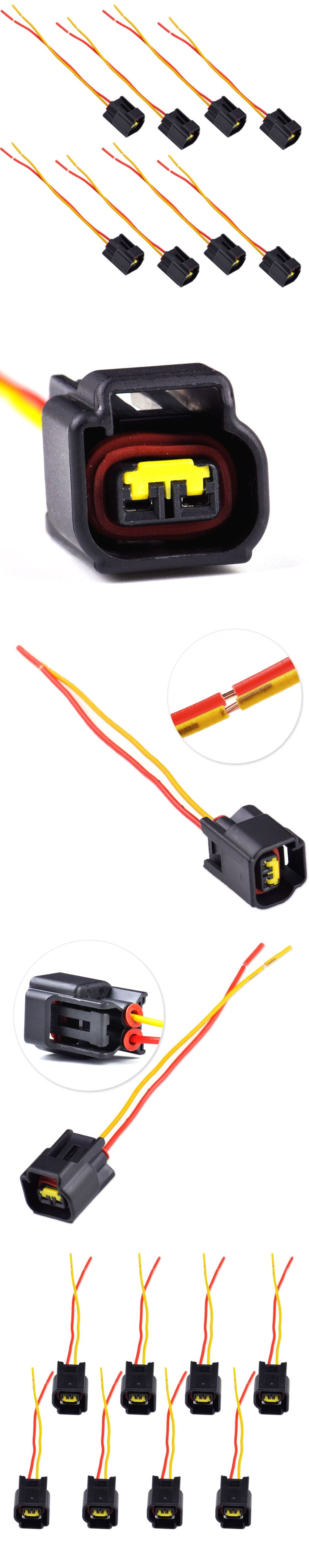 DWCX 8x Ignition Coil Harness Connector Modular for Ford