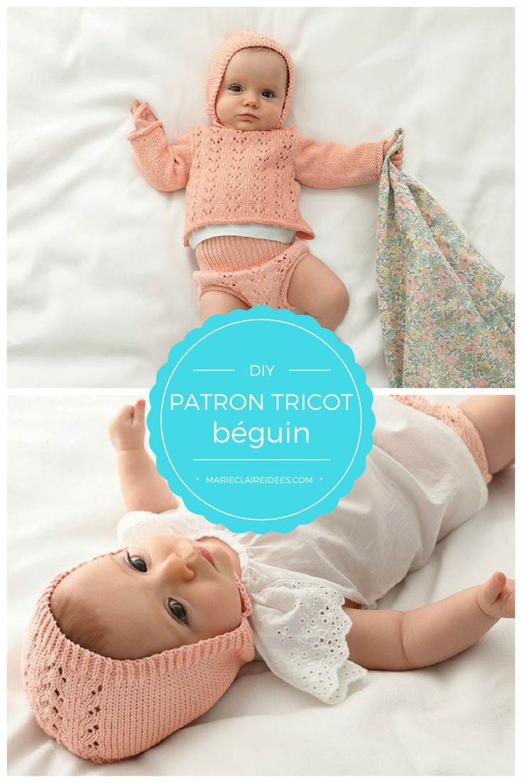 18c649585bbc Le béguin en tricot est un petit bonnet pour bébé trop mignon ! Que vous  soyez