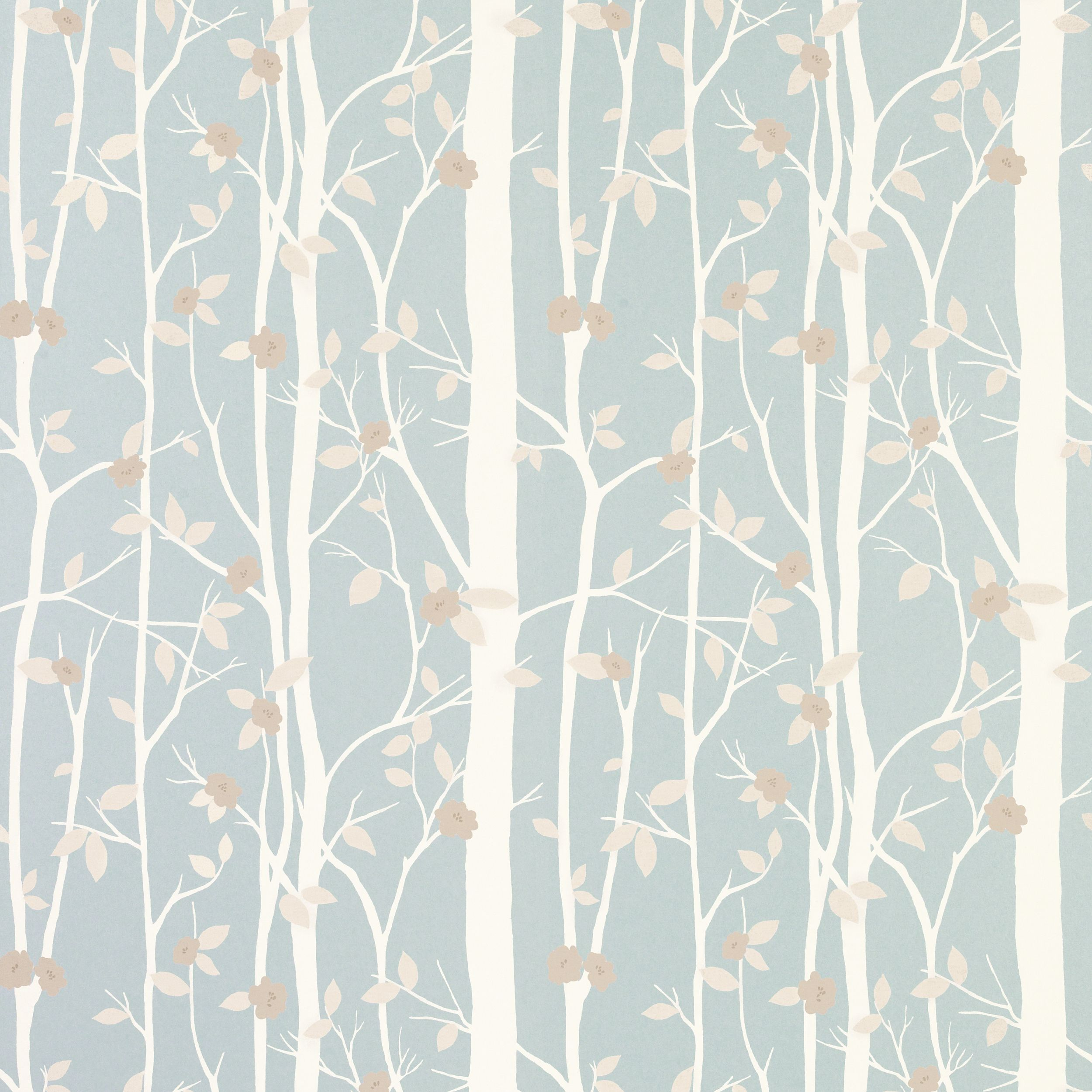 Cottonwood duck egg leaf wallpaper laura ashley like for Blue wallpaper for walls