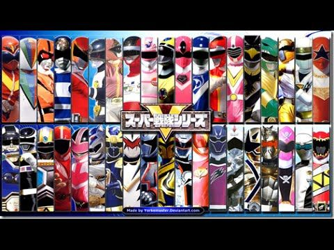 All Super Sentai and Power Rangers Morph/Henshin (after
