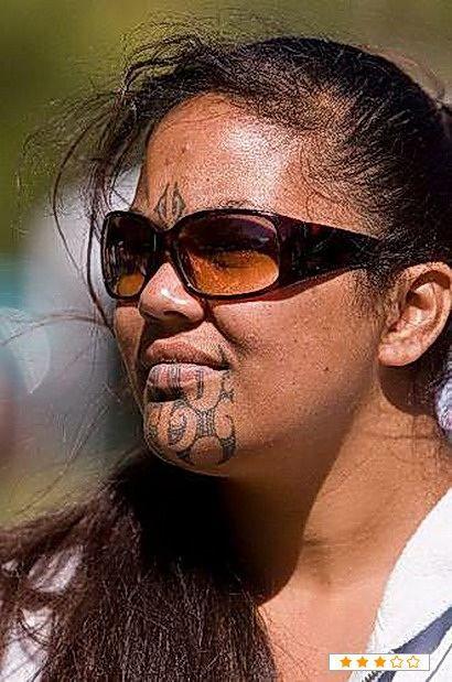 Female Ta Moko On Lips And Chin: Maori Tattoo, Samoan Tattoo