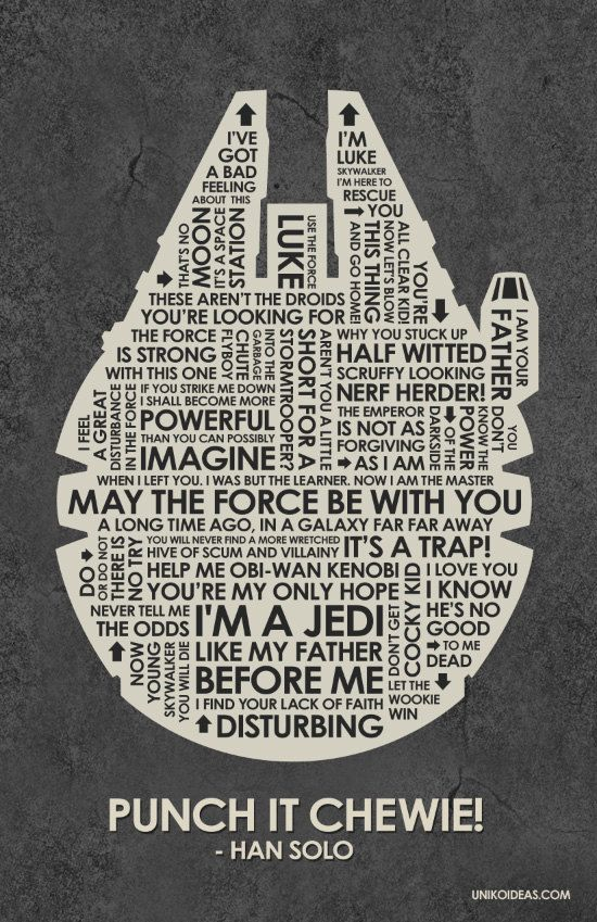 Star Wars - would love to print and frame this for the basement