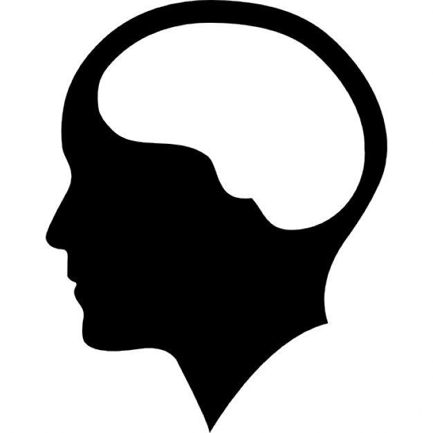 Brain Inside Human Head Human Head Silhouette Png Silhouette
