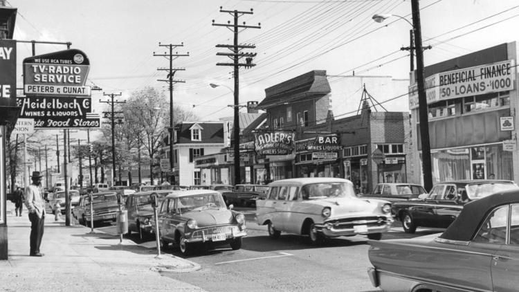 Then: Frederick Road in Catonsville
