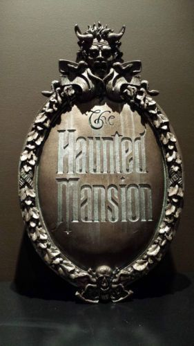 Disney Haunted Mansion Attraction Gate Plaque Theme Park