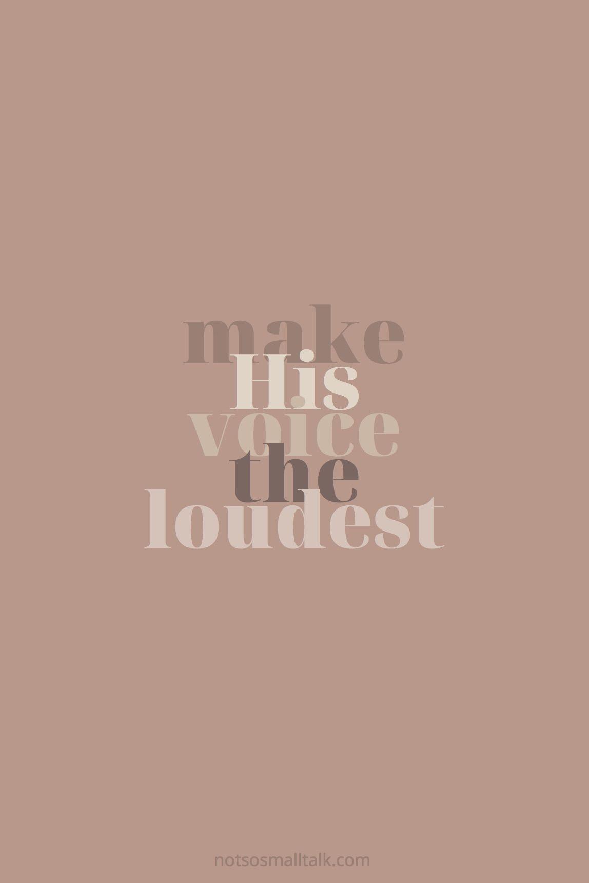 Focus on His Voice
