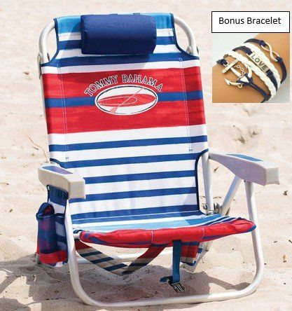 Tommy Bahama Deluxe Backpack Beach Chair With Cooler Plus Bonus